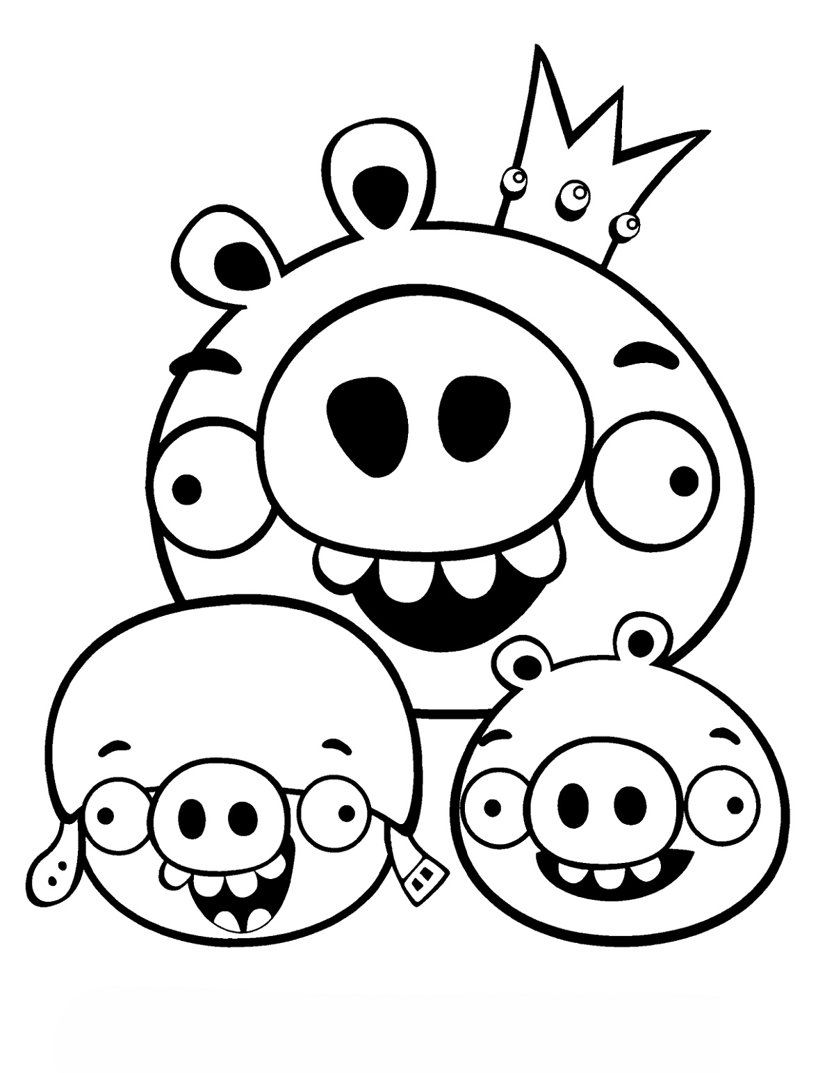 Angry Birds Coloring Pages Pig