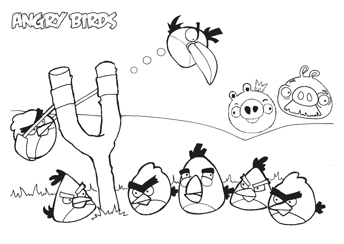 Angry Birds Coloring Pages Printable