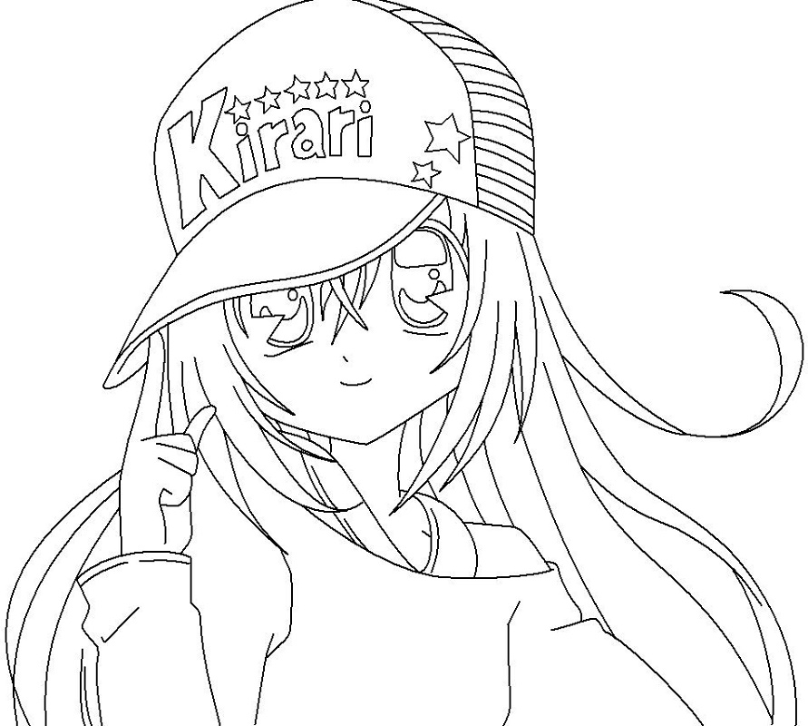 Anime Girl Coloring Pages Kirari