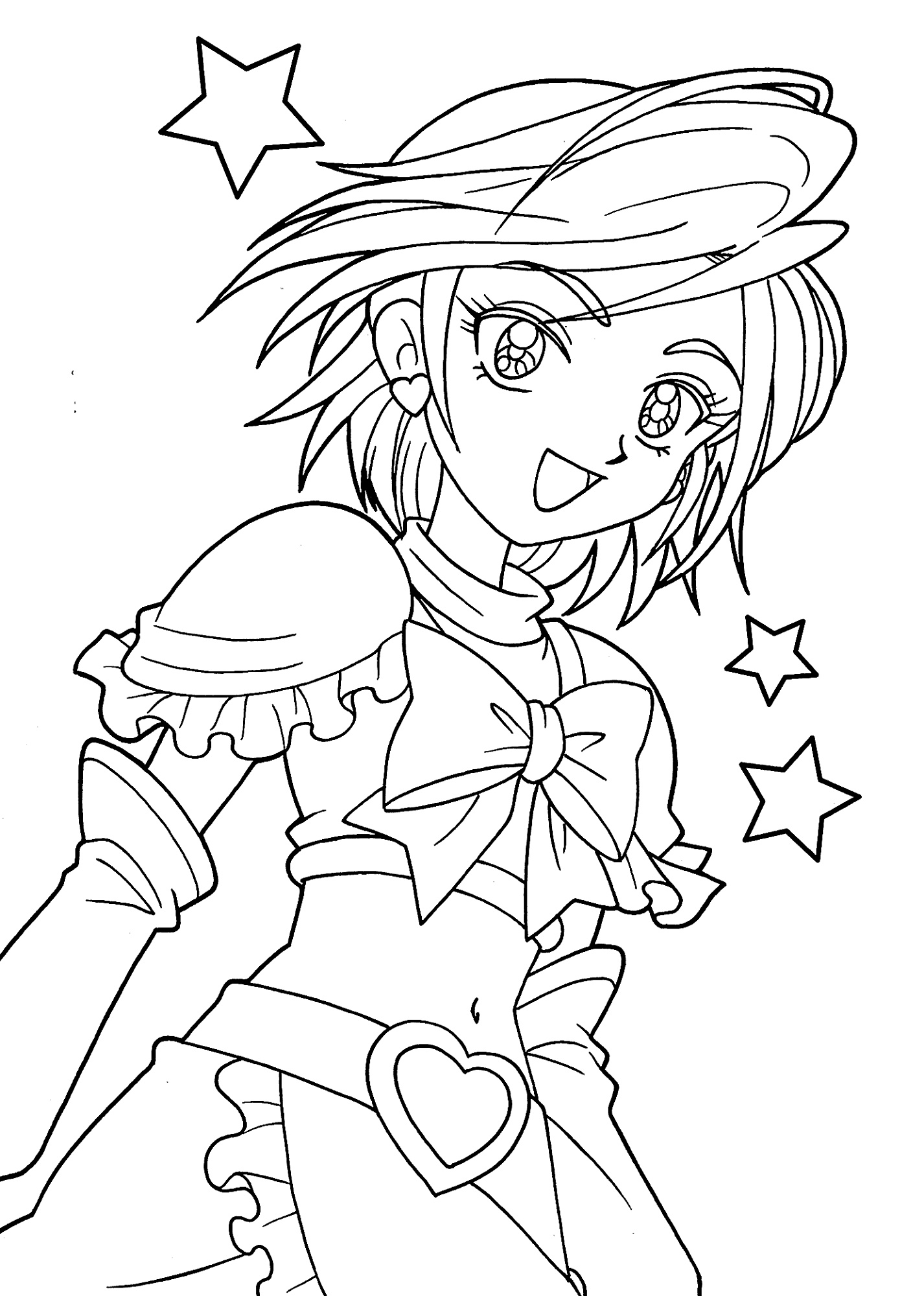 Anime Girl Coloring Pages Pretty Cure