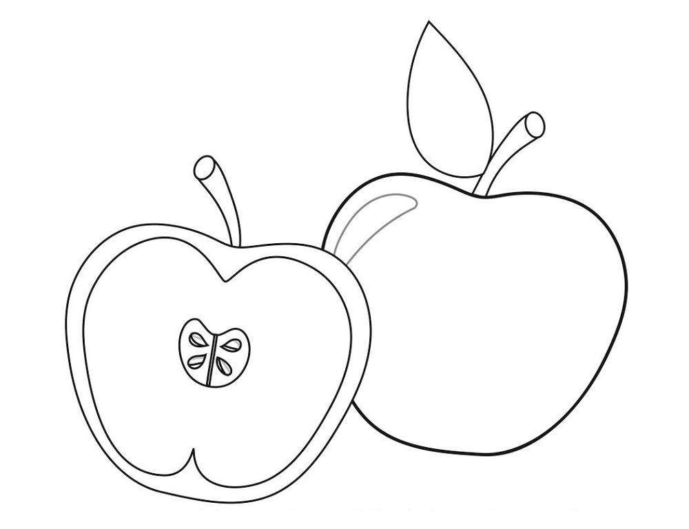 Apple Coloring Pages Pictures