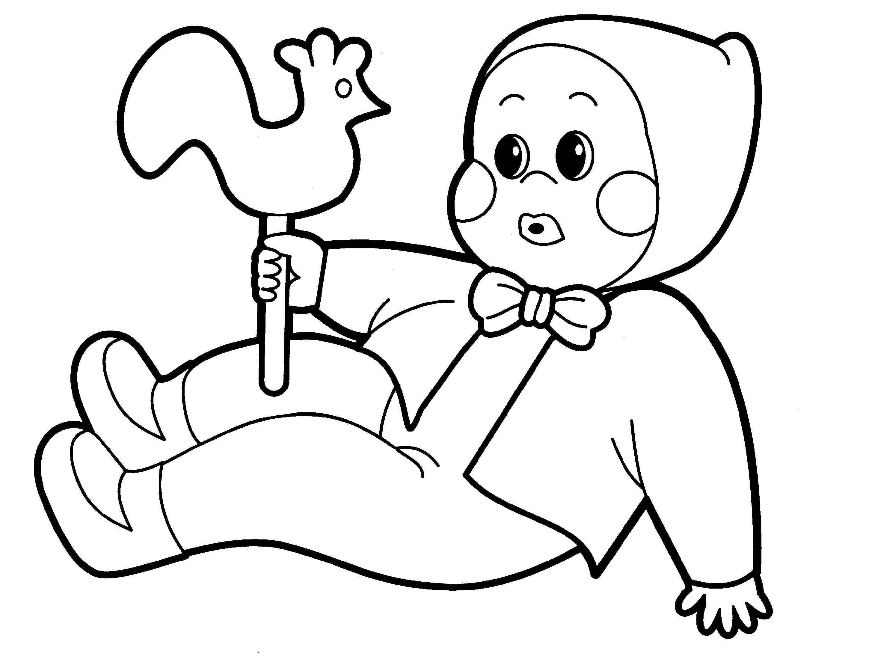 Baby Doll Coloring Page Cartoon