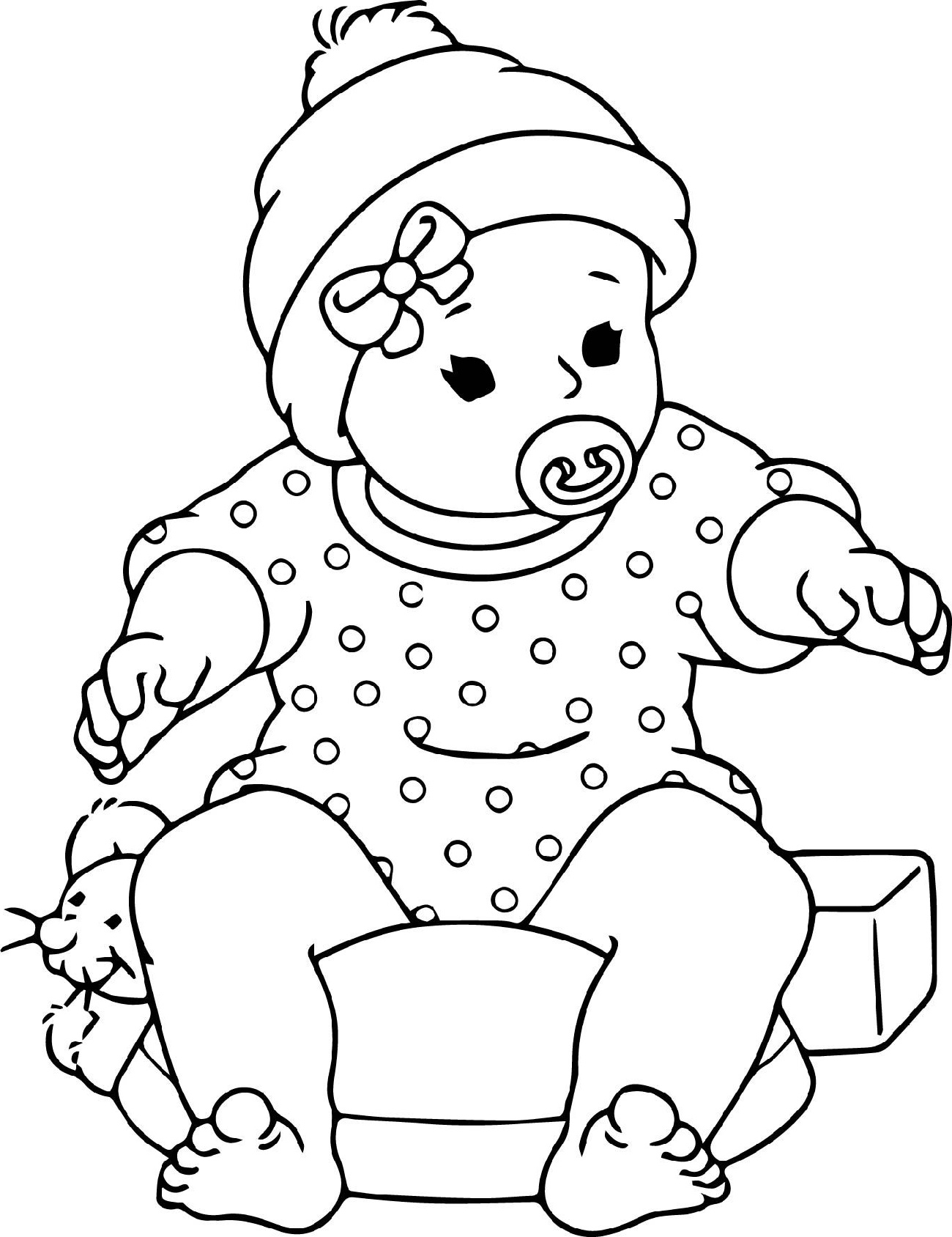 Baby Doll Coloring Page Free