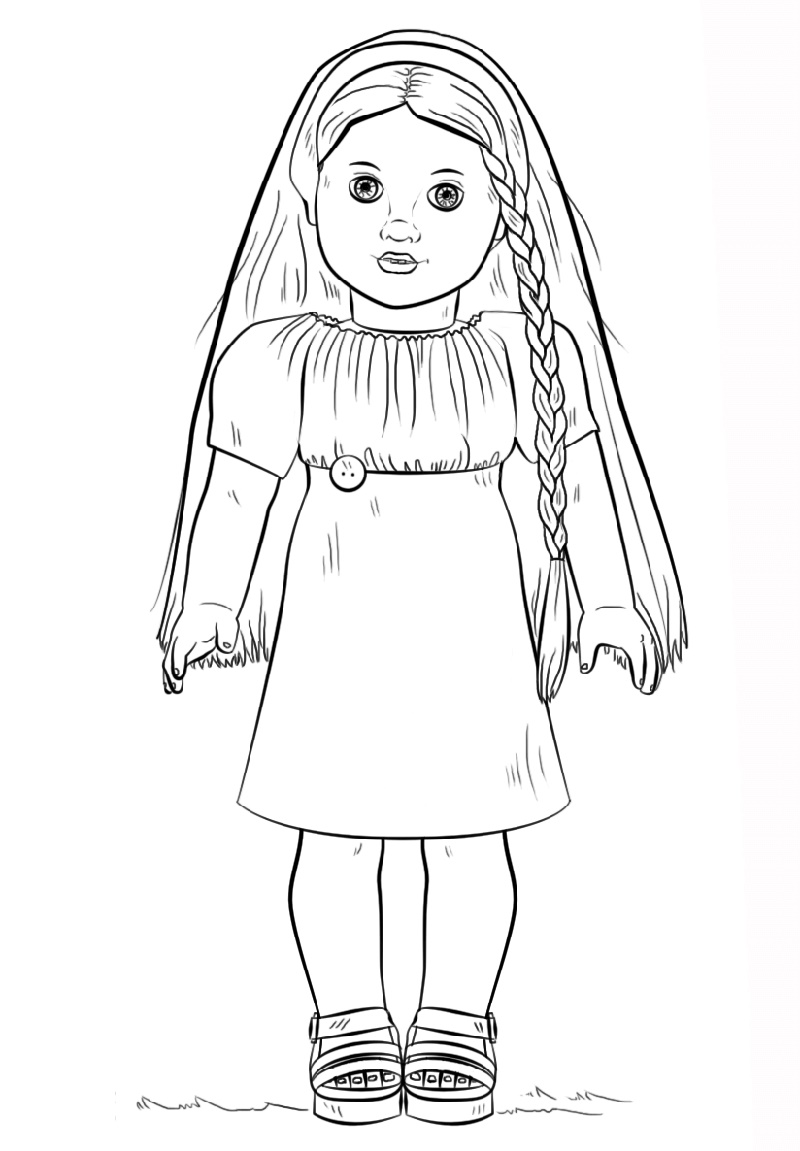 Baby Doll Coloring Page To Print