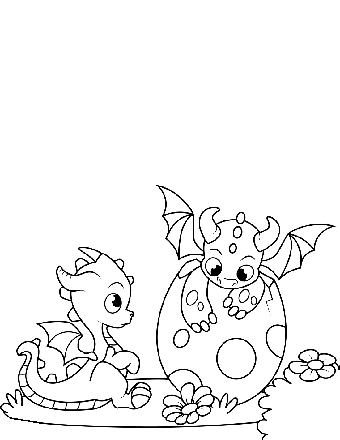 Baby Dragon Coloring Pages K5 Worksheets
