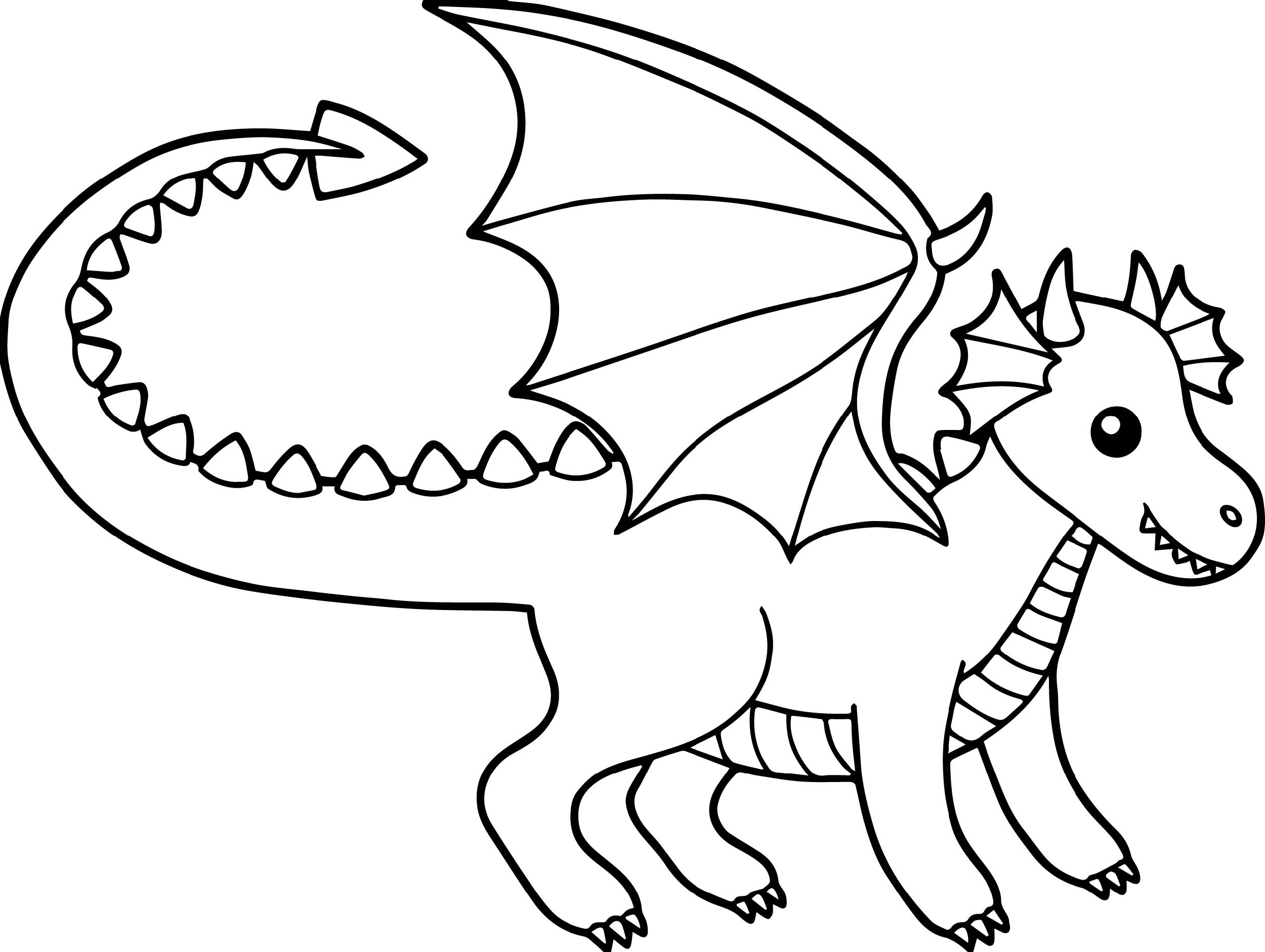 Baby Dragon Coloring Pages To Print