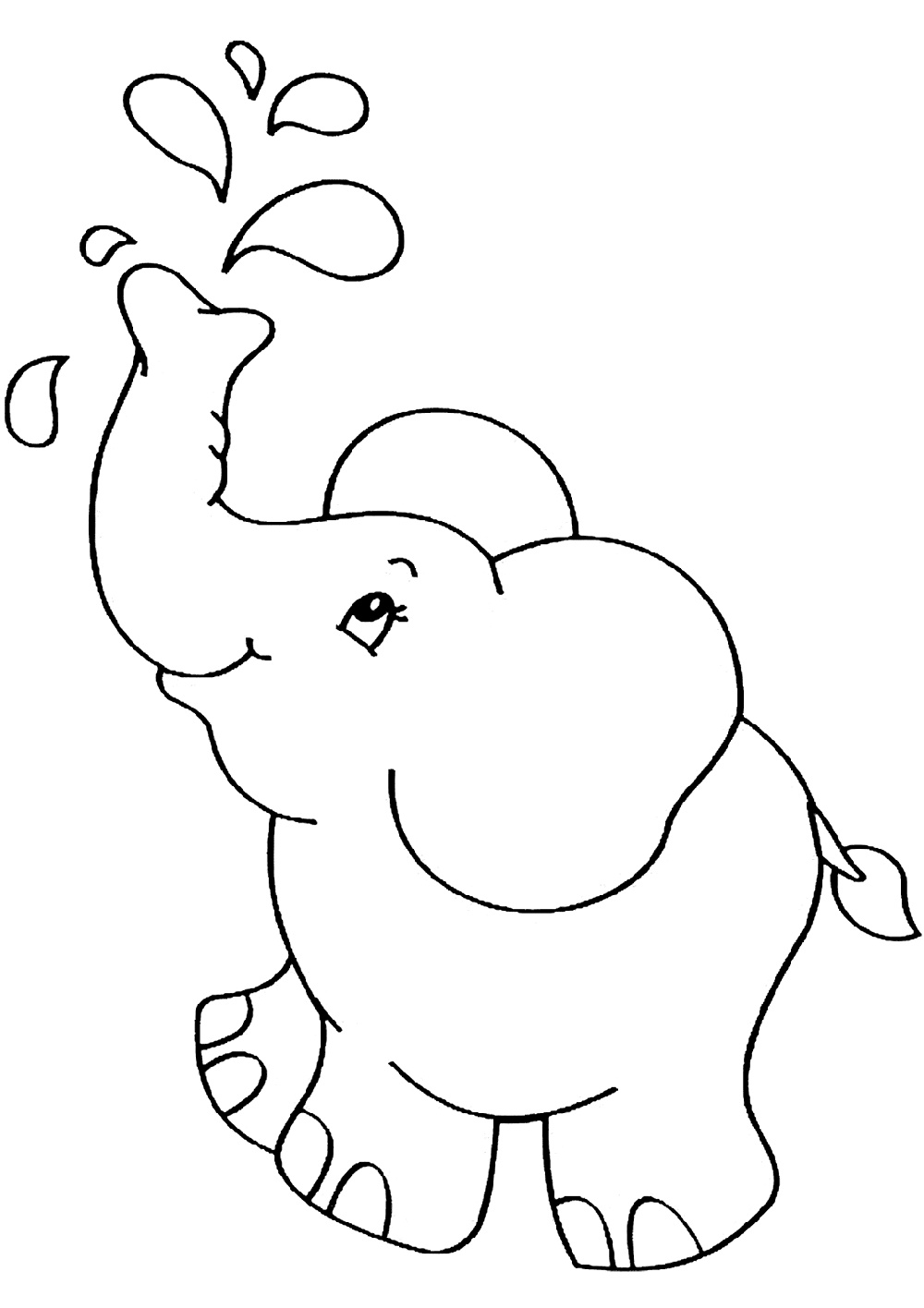 Baby Elephant Coloring Pages Free
