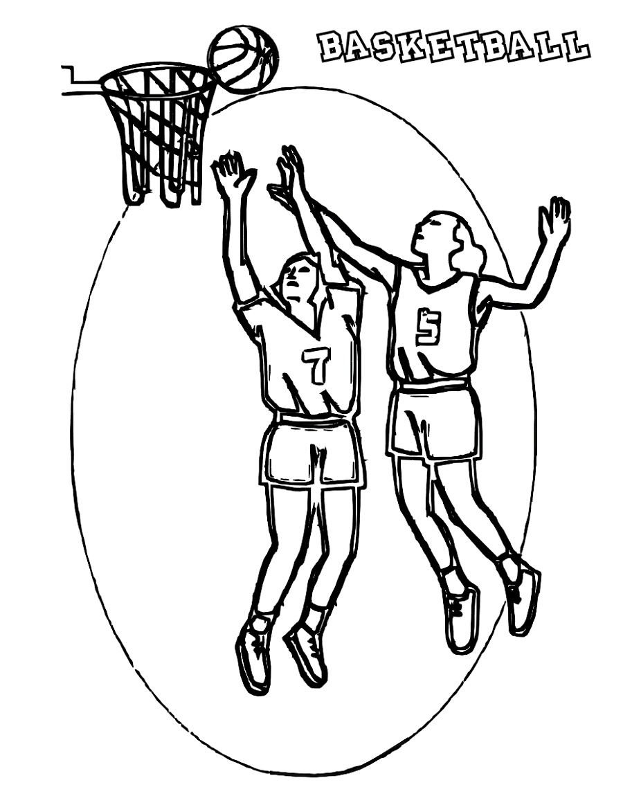 Basketball Coloring Pages For Kids