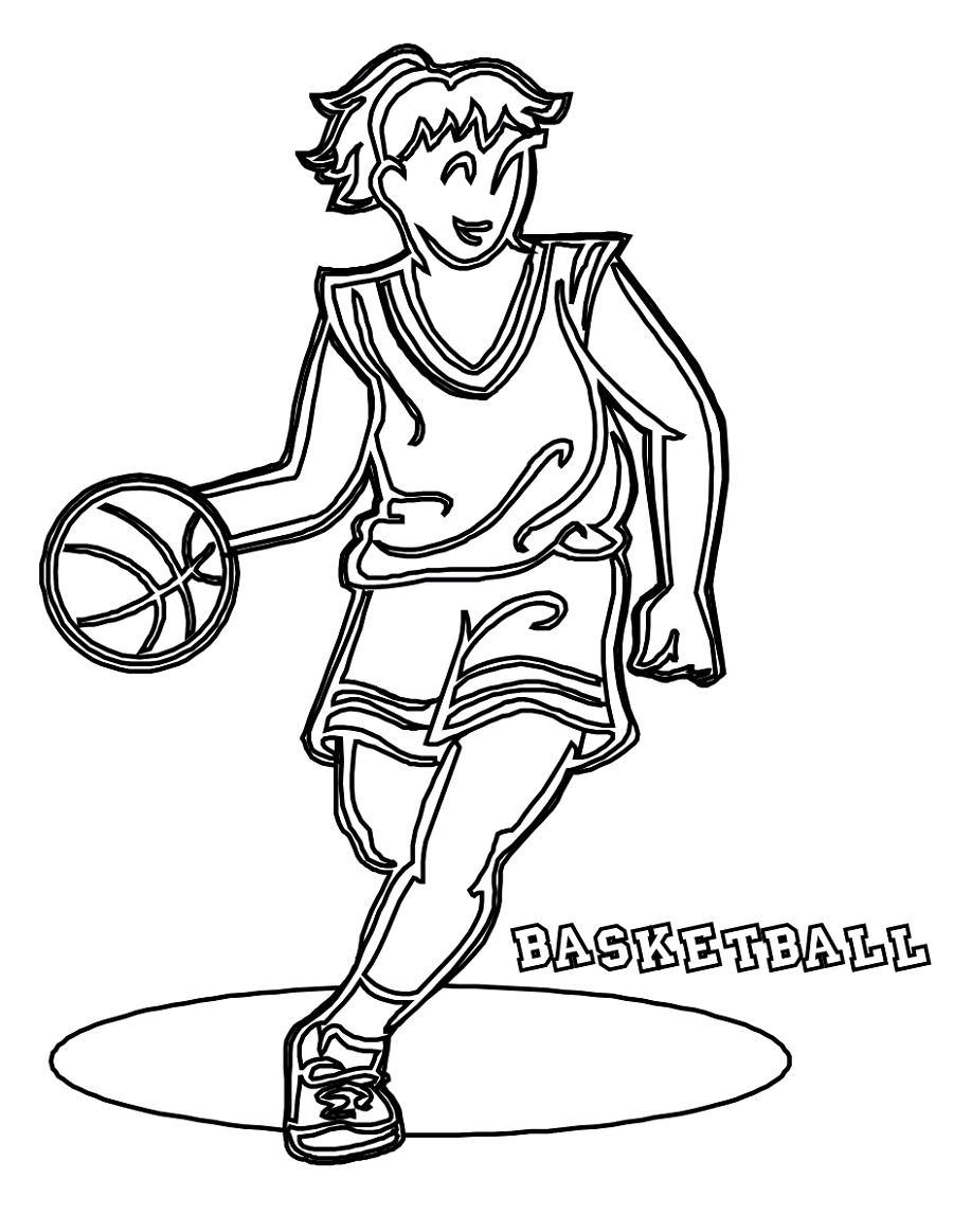 Basketball Coloring Pages Girl