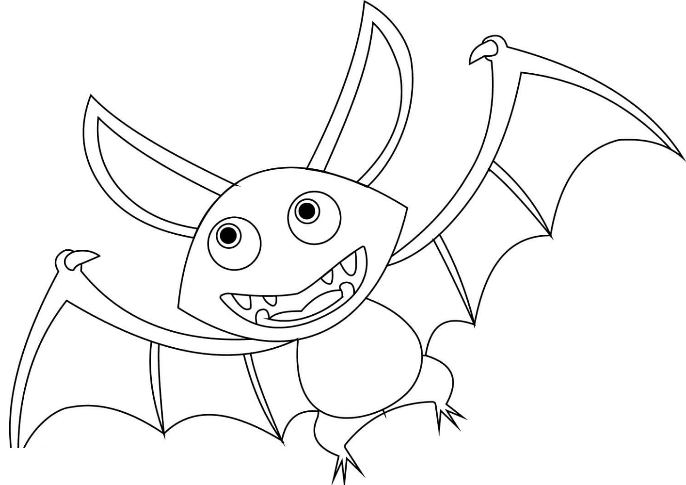 Bat Coloring Pages Cartoon