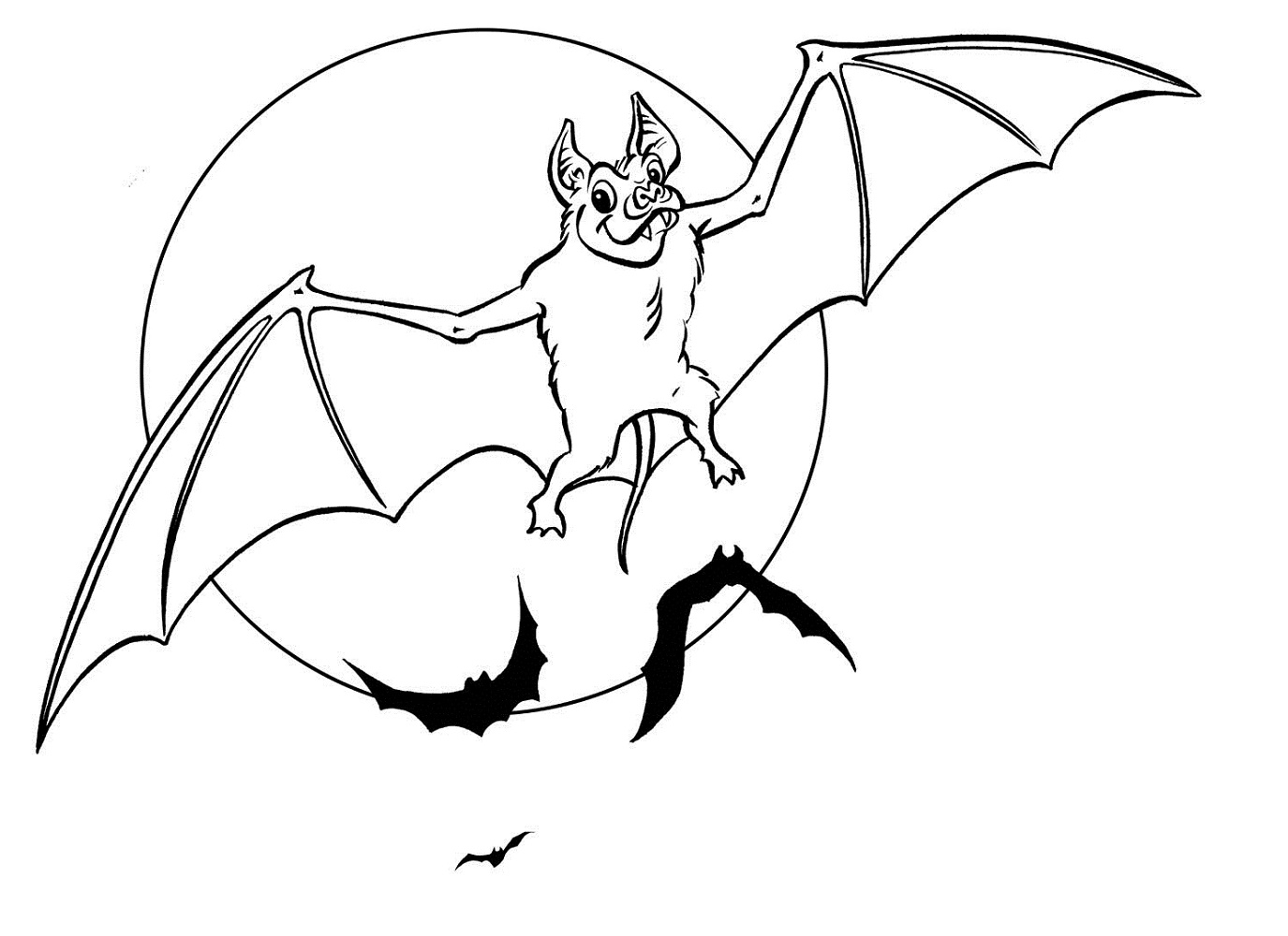 Bat Coloring Pages For Kids