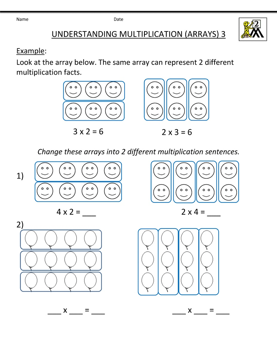 Beginning Math Worksheets Multiplication