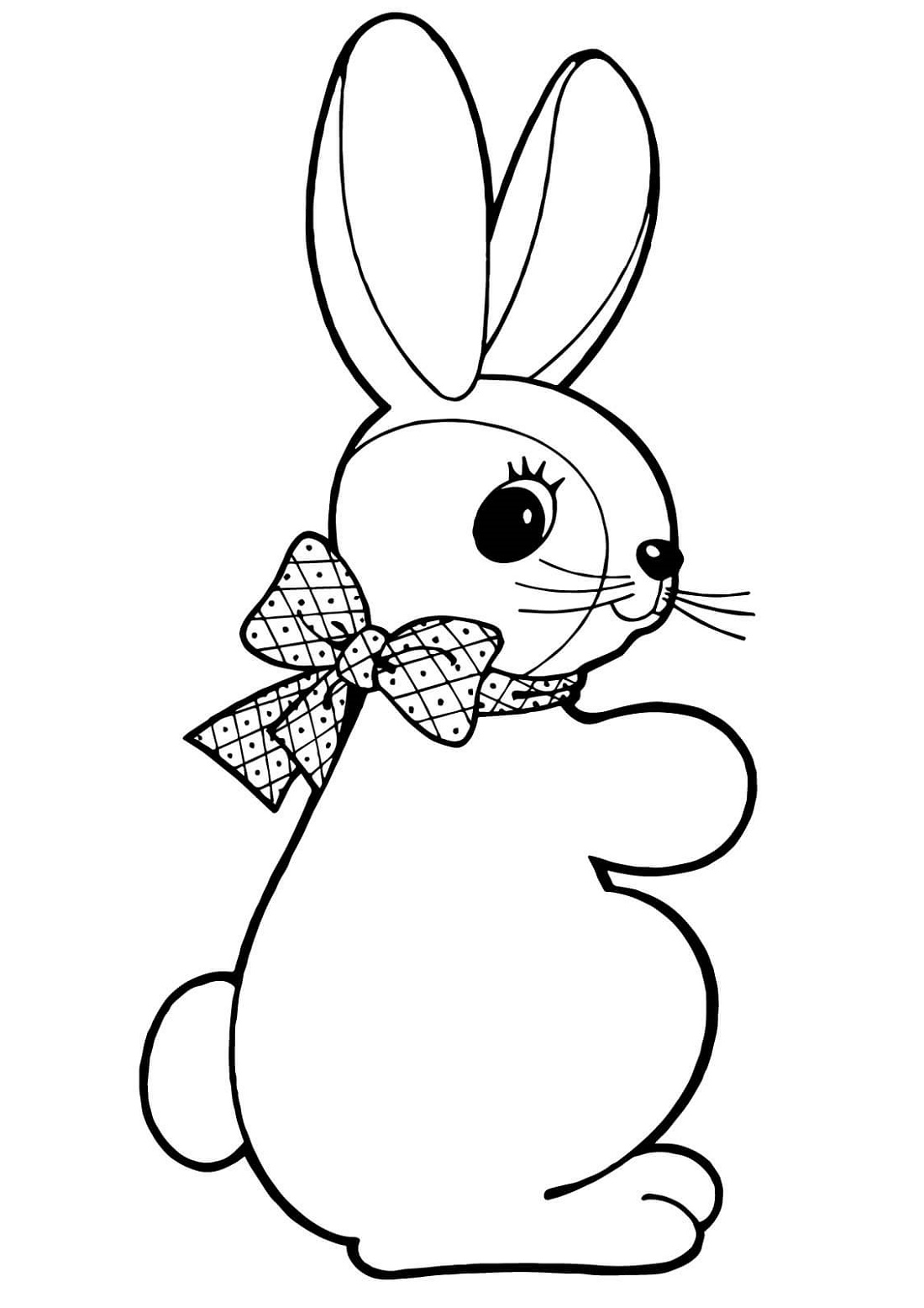 Bunny Coloring Pages Easter