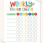 Childrens Reward Chart Weekly