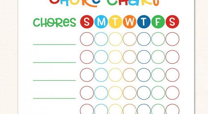 Childrens Reward Chart Weekly