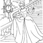 Cinderella Coloring Pages Down The Stairs