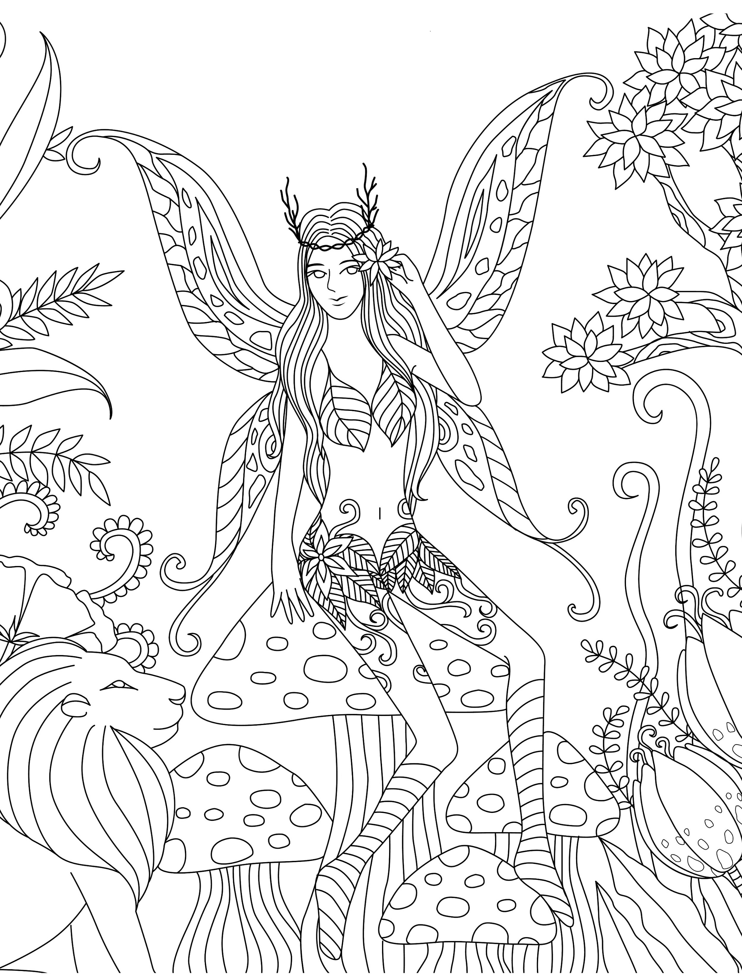Coloring Book For Adult Free Fairy