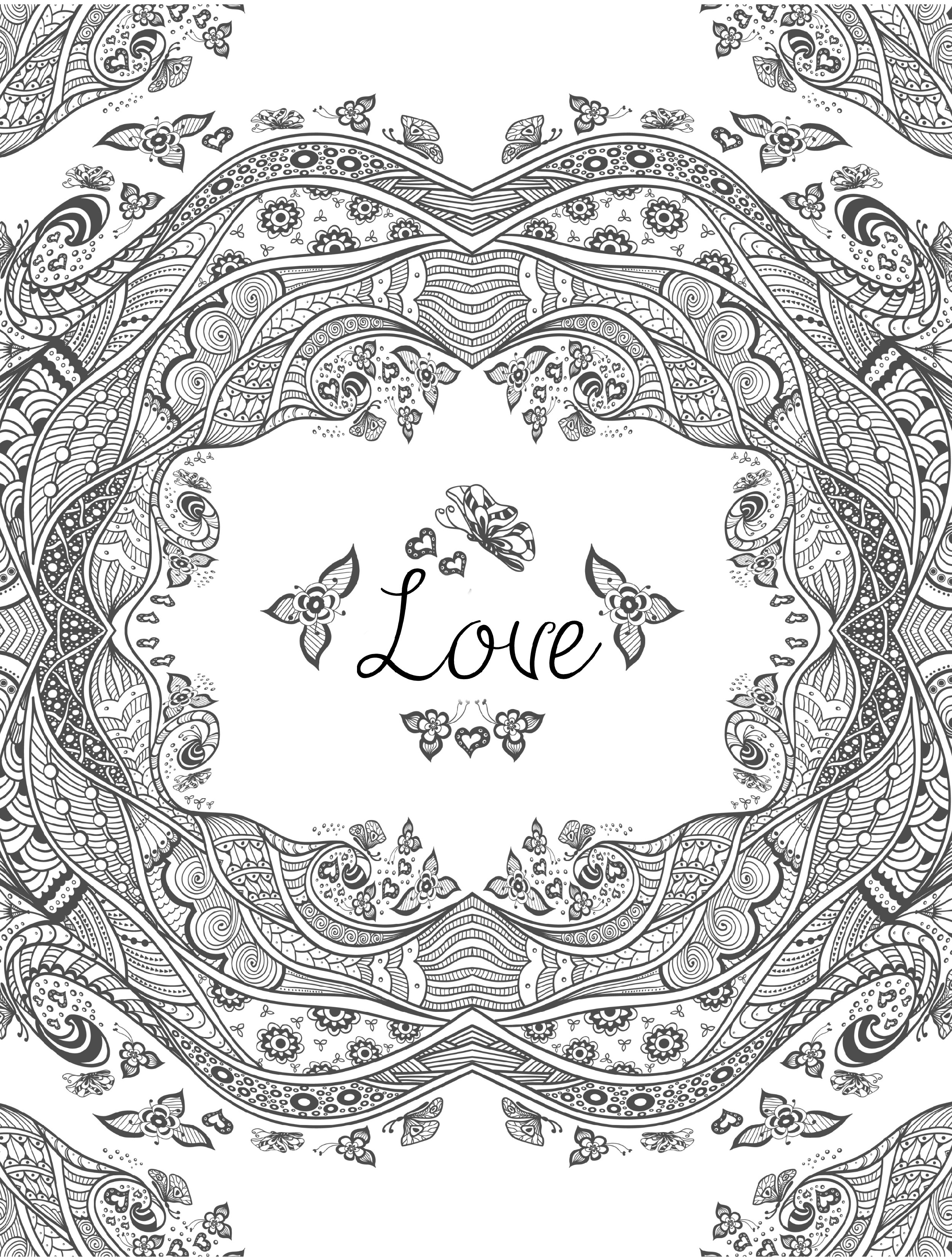 Coloring Book For Adult Free Love