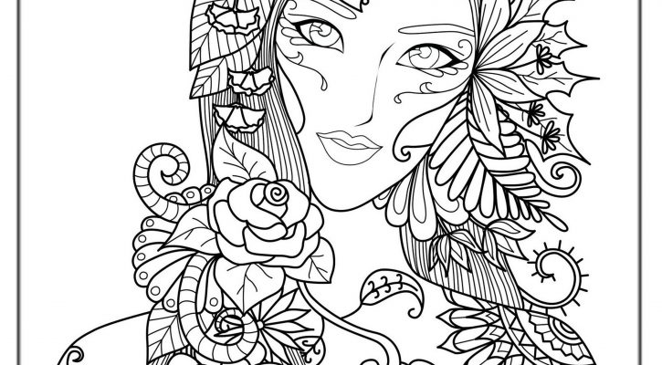 Coloring Book For Adult Free Women