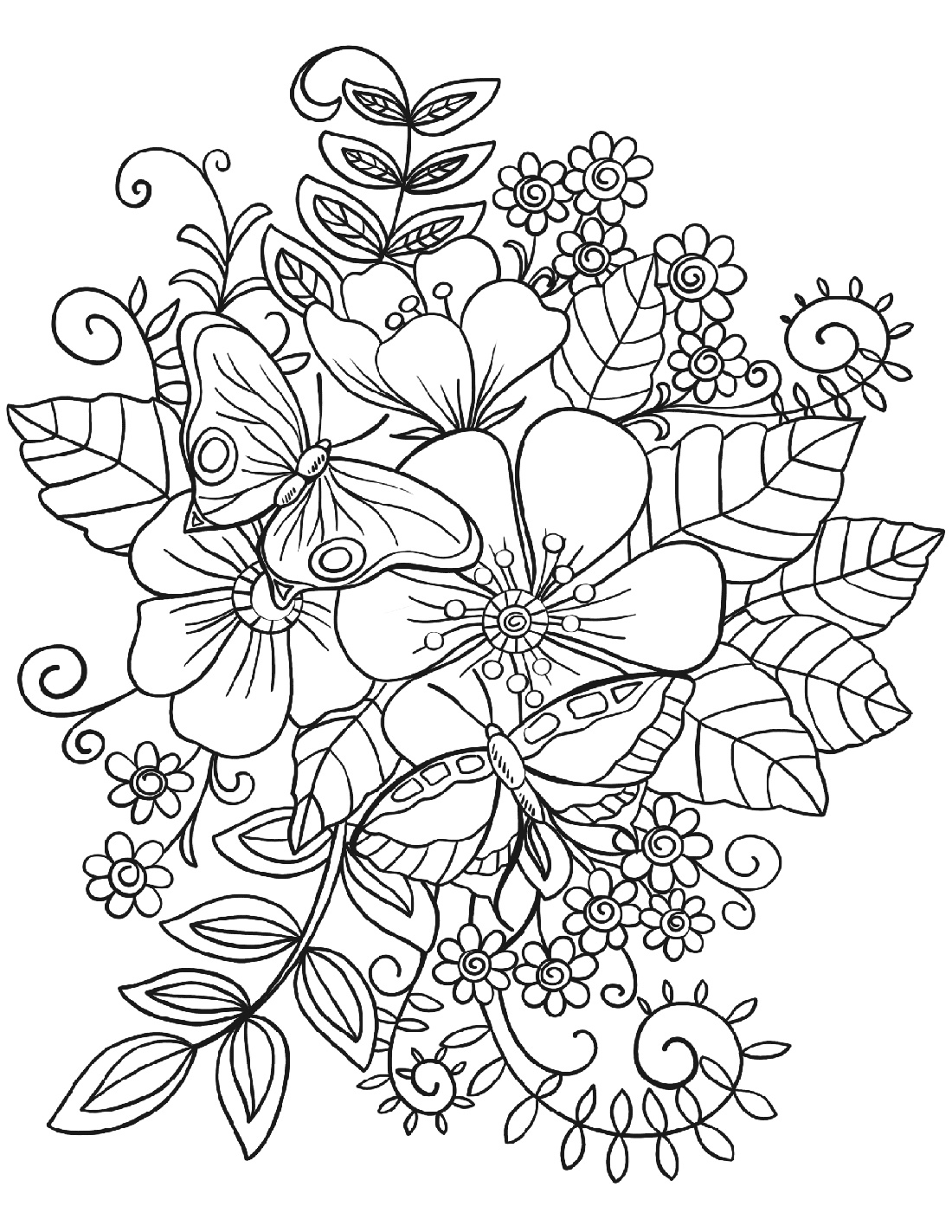 Coloring Pictures Of Flowers Free