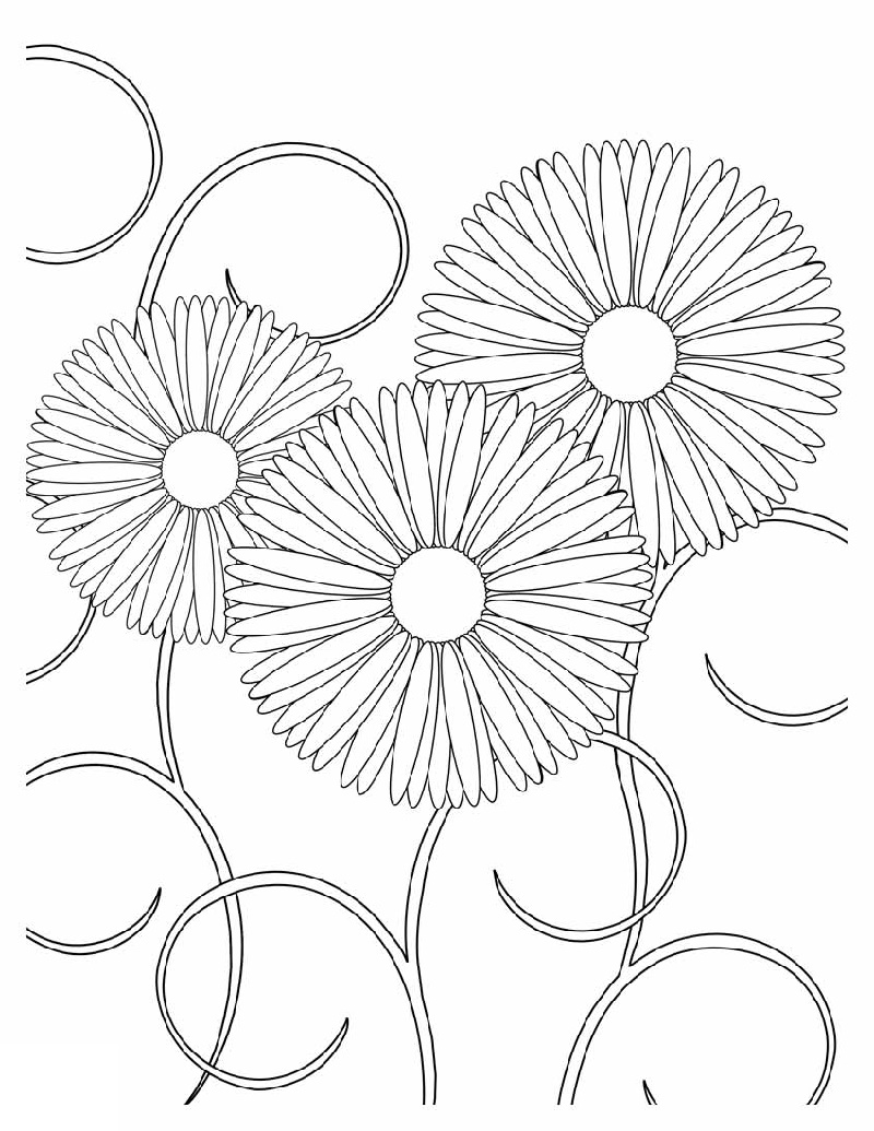 Coloring Pictures Of Flowers Printable