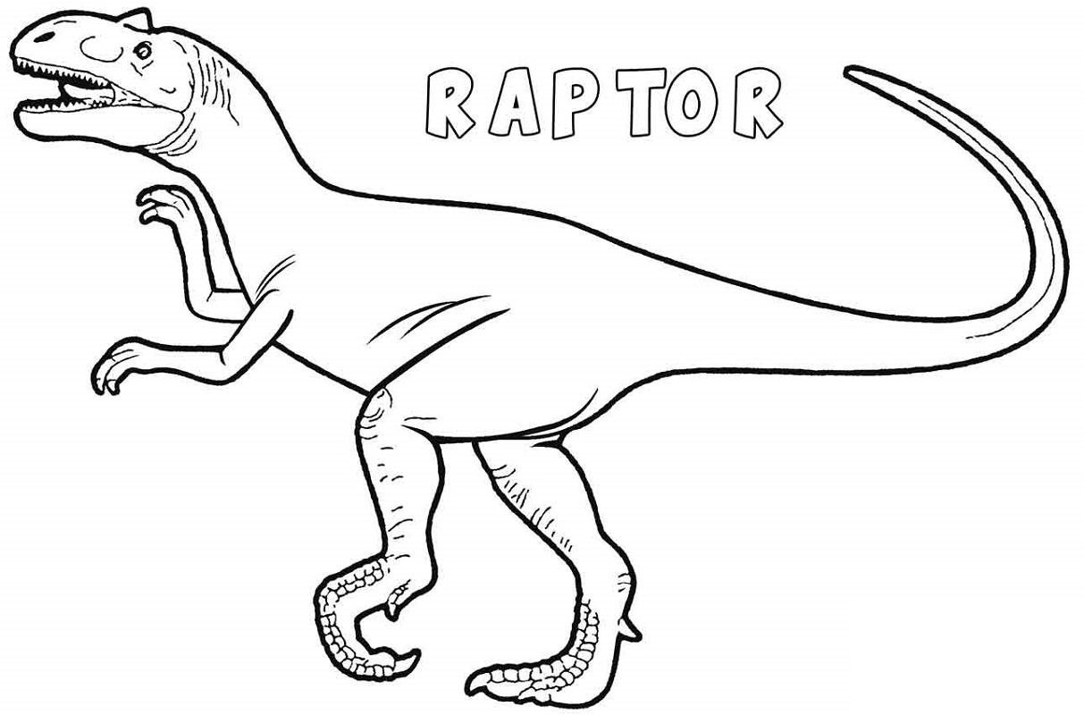 Dinosaur Coloring Raptor
