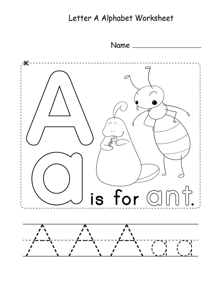 Educational Worksheets For 4 Year Olds Alphabet