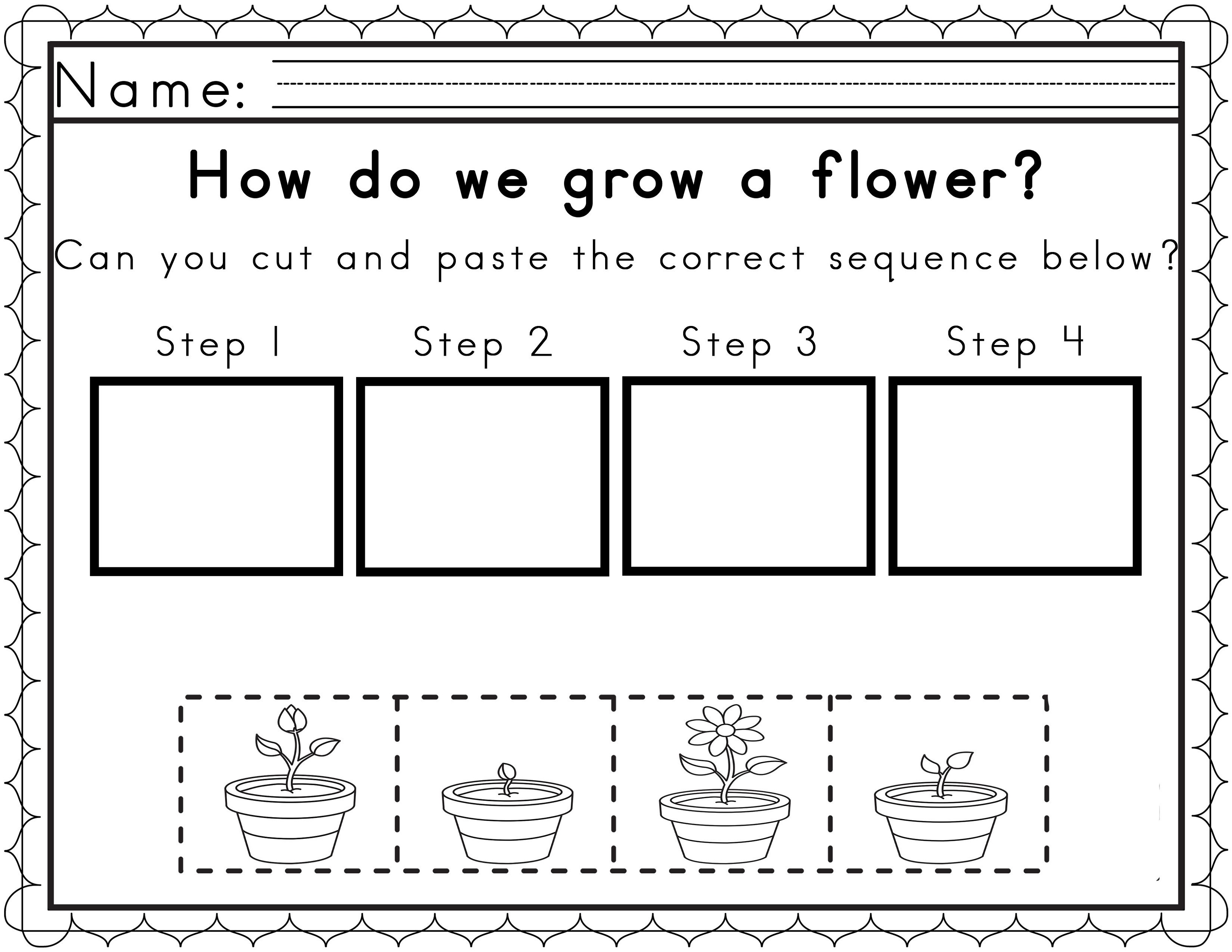 Educational Worksheets For 4 Year Olds Sequencing