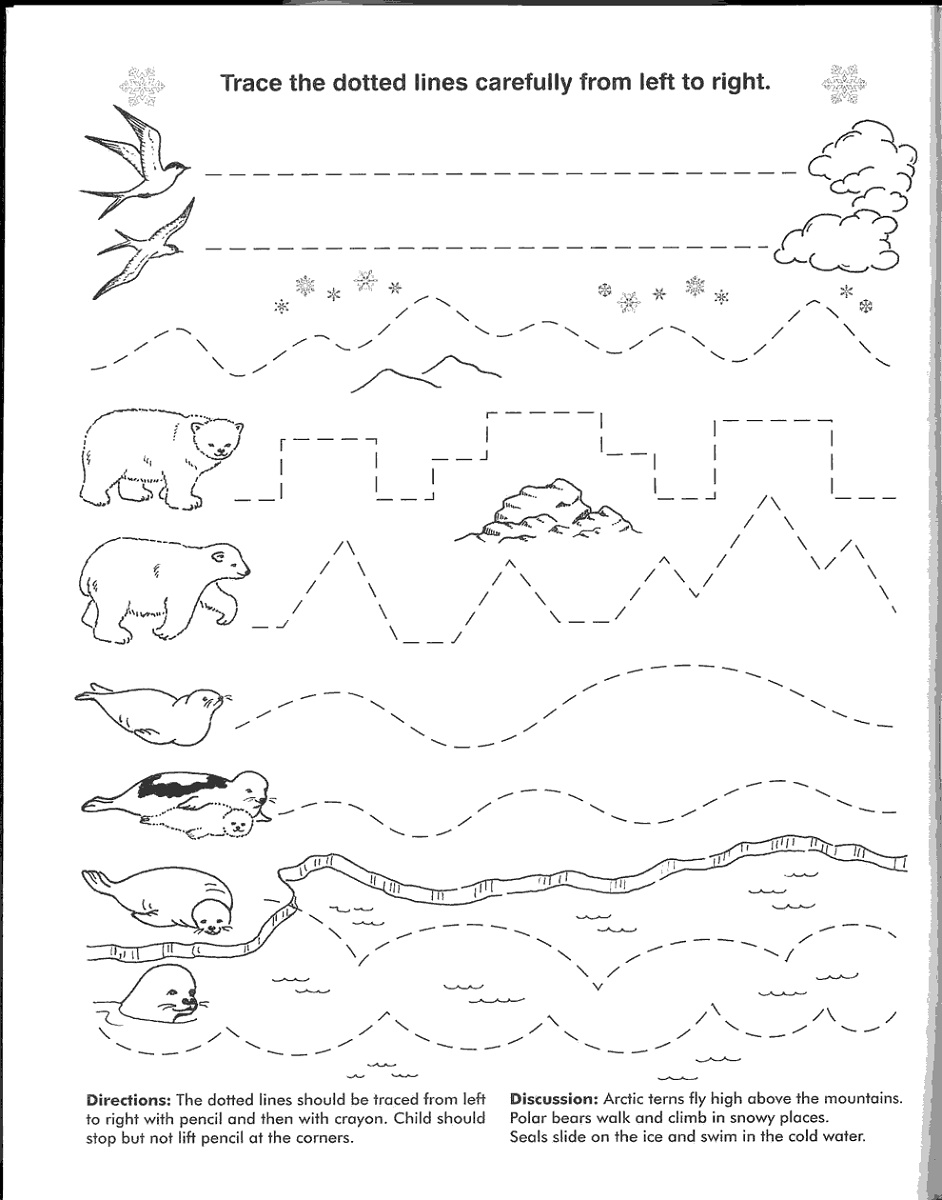 Educational Worksheets For 4 Year Olds Tracing
