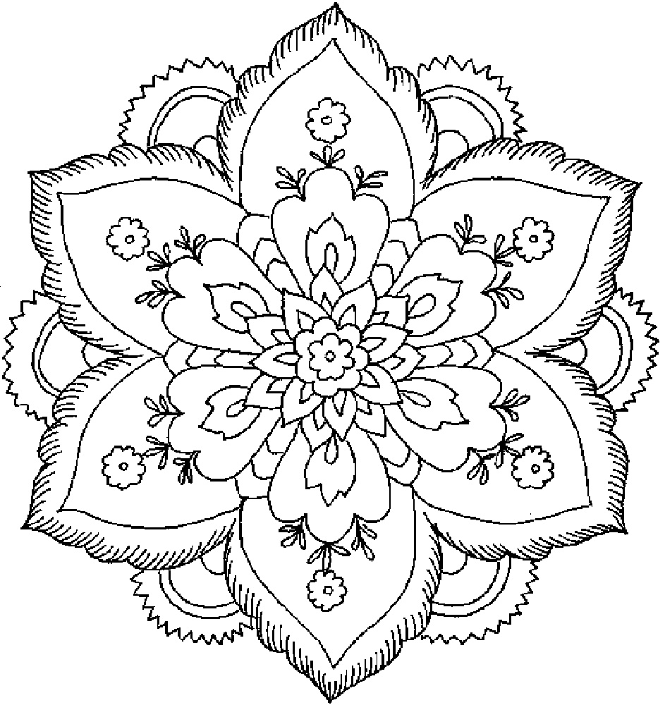 Flower Coloring Sheets Printable