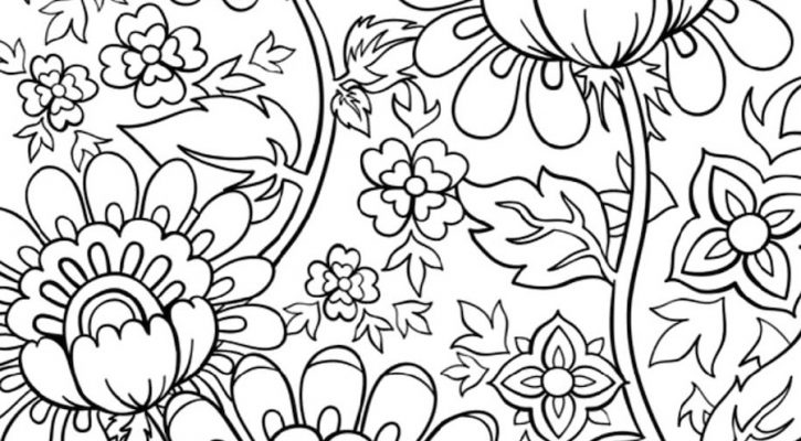 Flower Coloring Sheets Spring