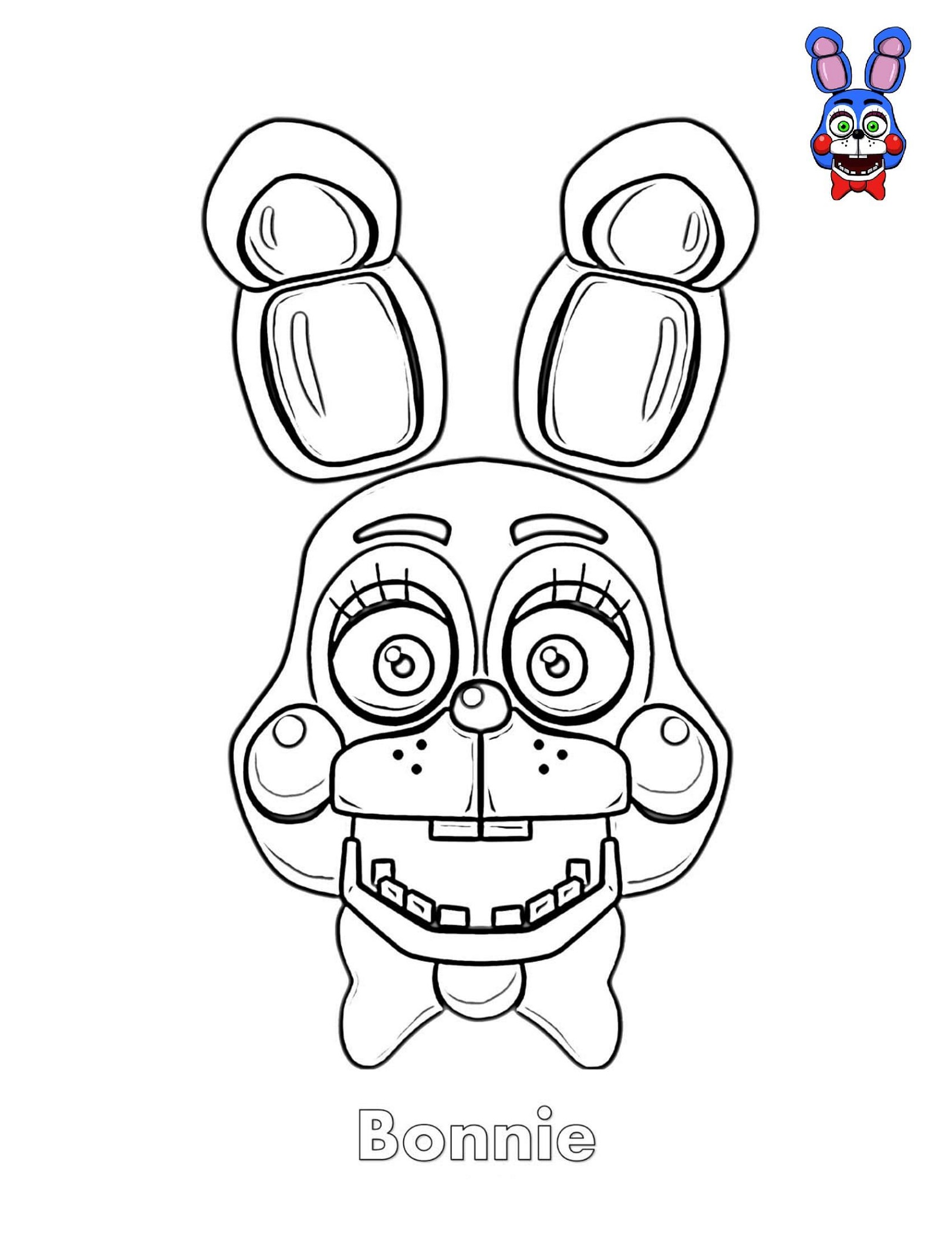 Fnaf Coloring Book Bonnie Face