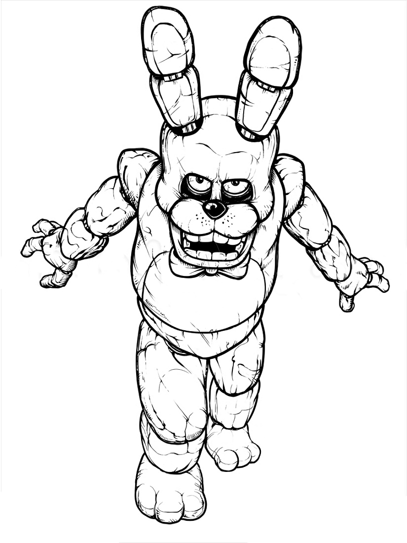 Fnaf Coloring Book Freddy