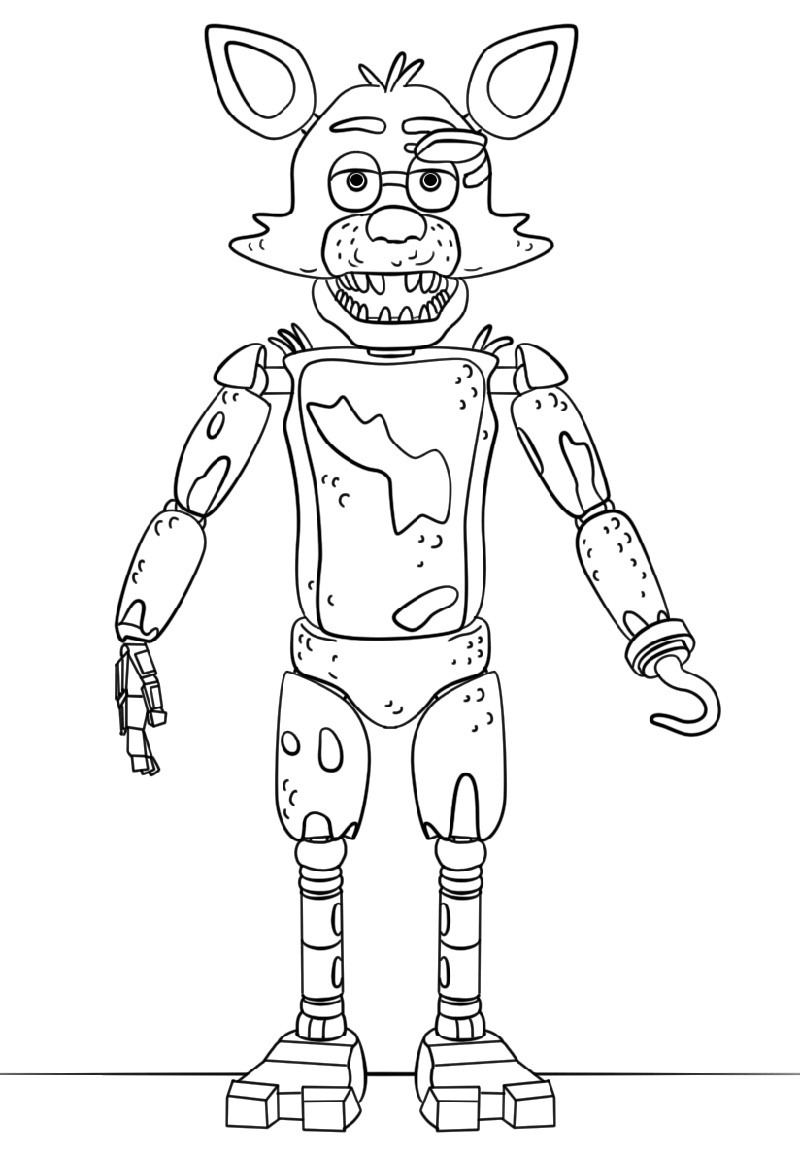 Fnaf Coloring Book Toy Foxy