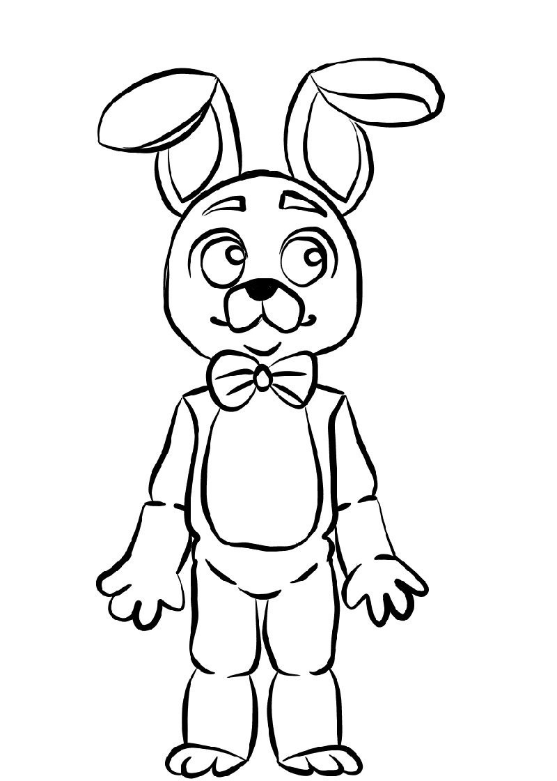 Fnaf Coloring Sheets Bonnie
