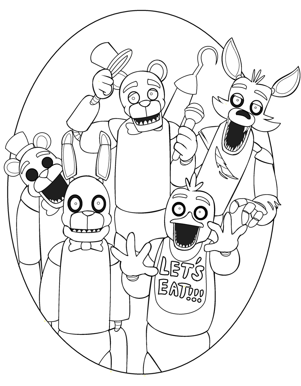 Fnaf Coloring Sheets Character