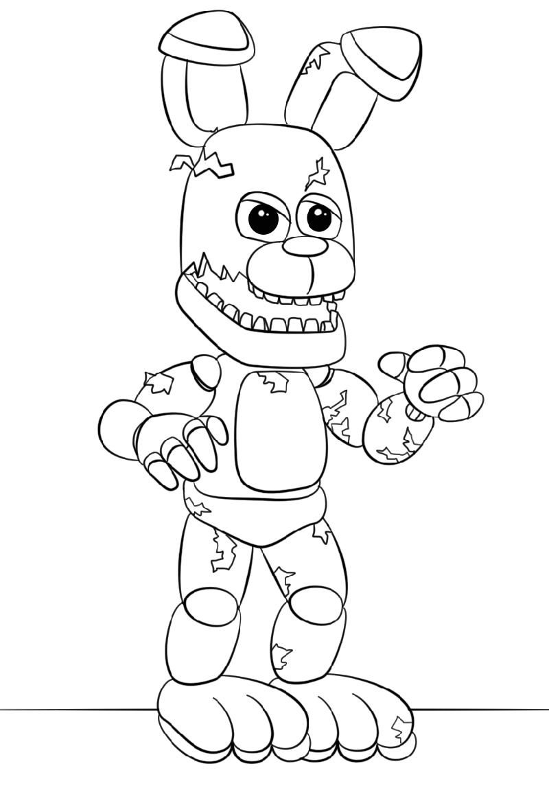 Nightmare Freddy coloring page | Free Printable Coloring Pages | 1151x800