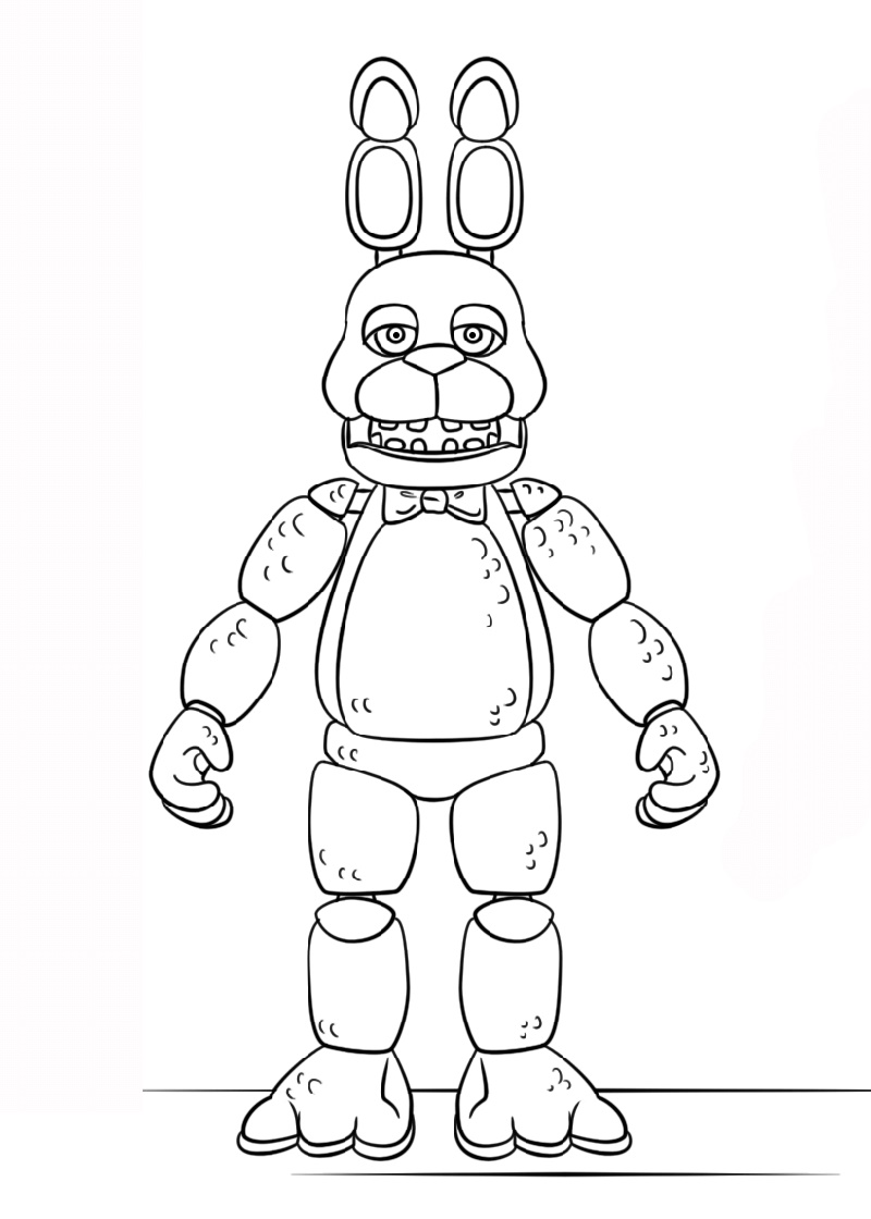 Fnaf Coloring Sheets Toy Bonnie