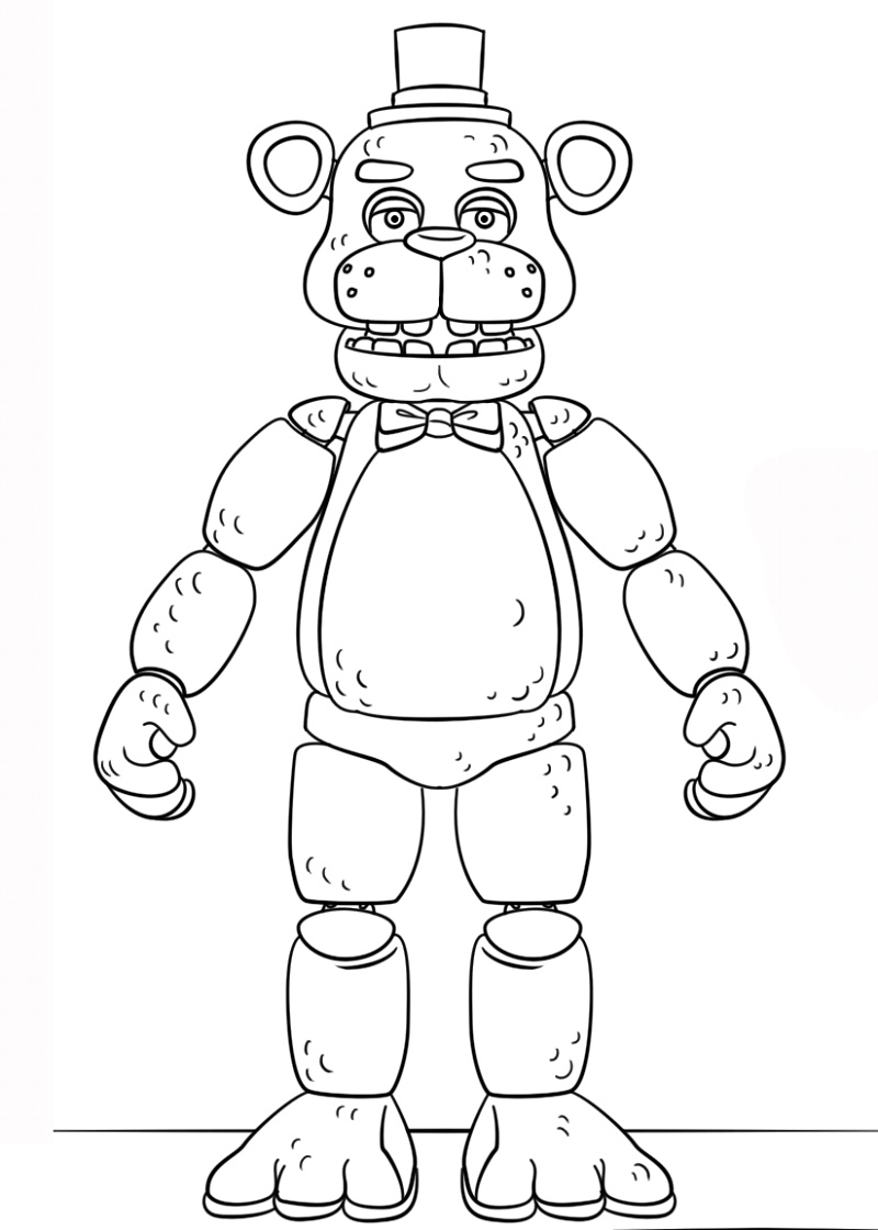 Fnaf Coloring Sheets Toy Golden Freddy