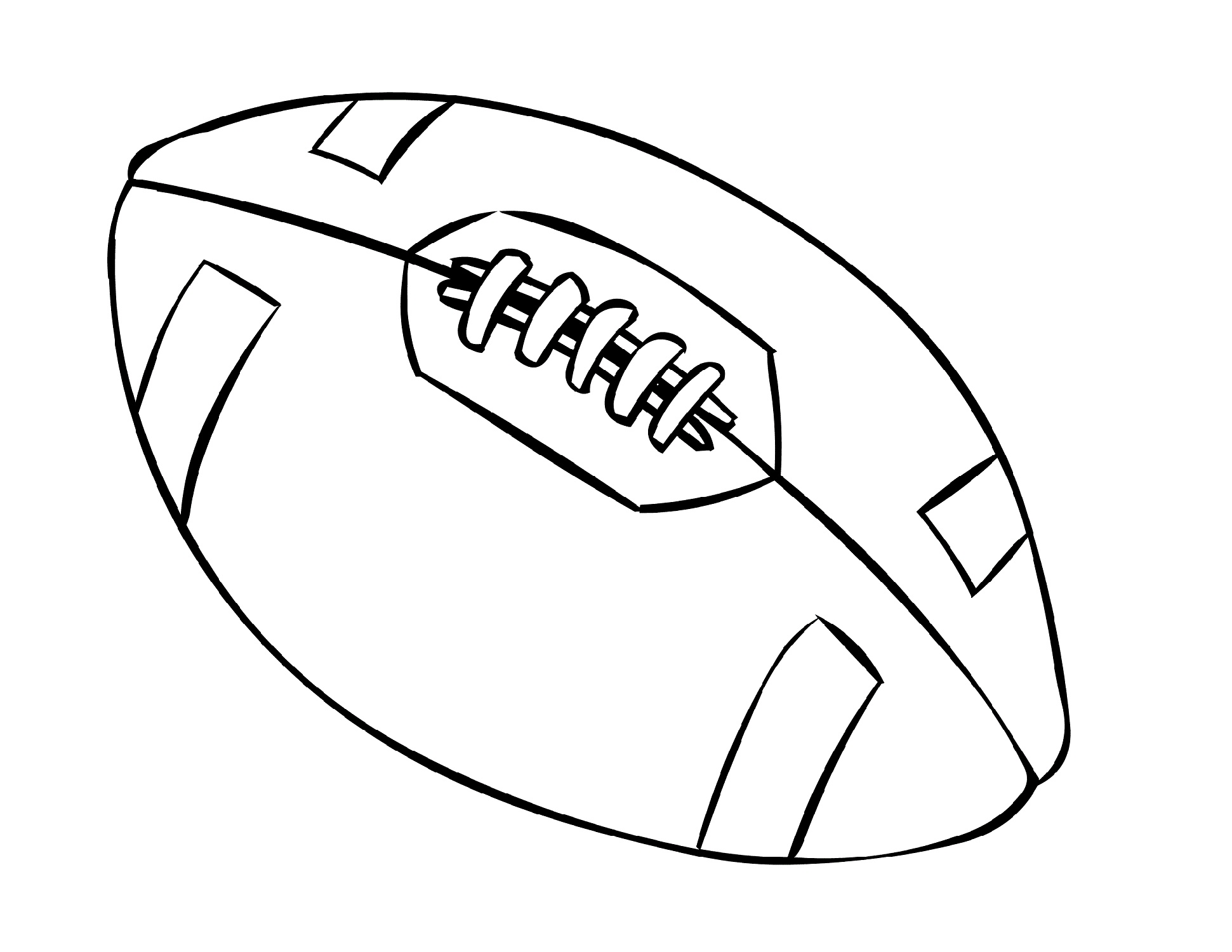 Football Coloring Pages Ball