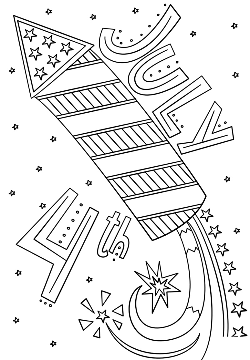 Fourth Of July Coloring Pages Doodle