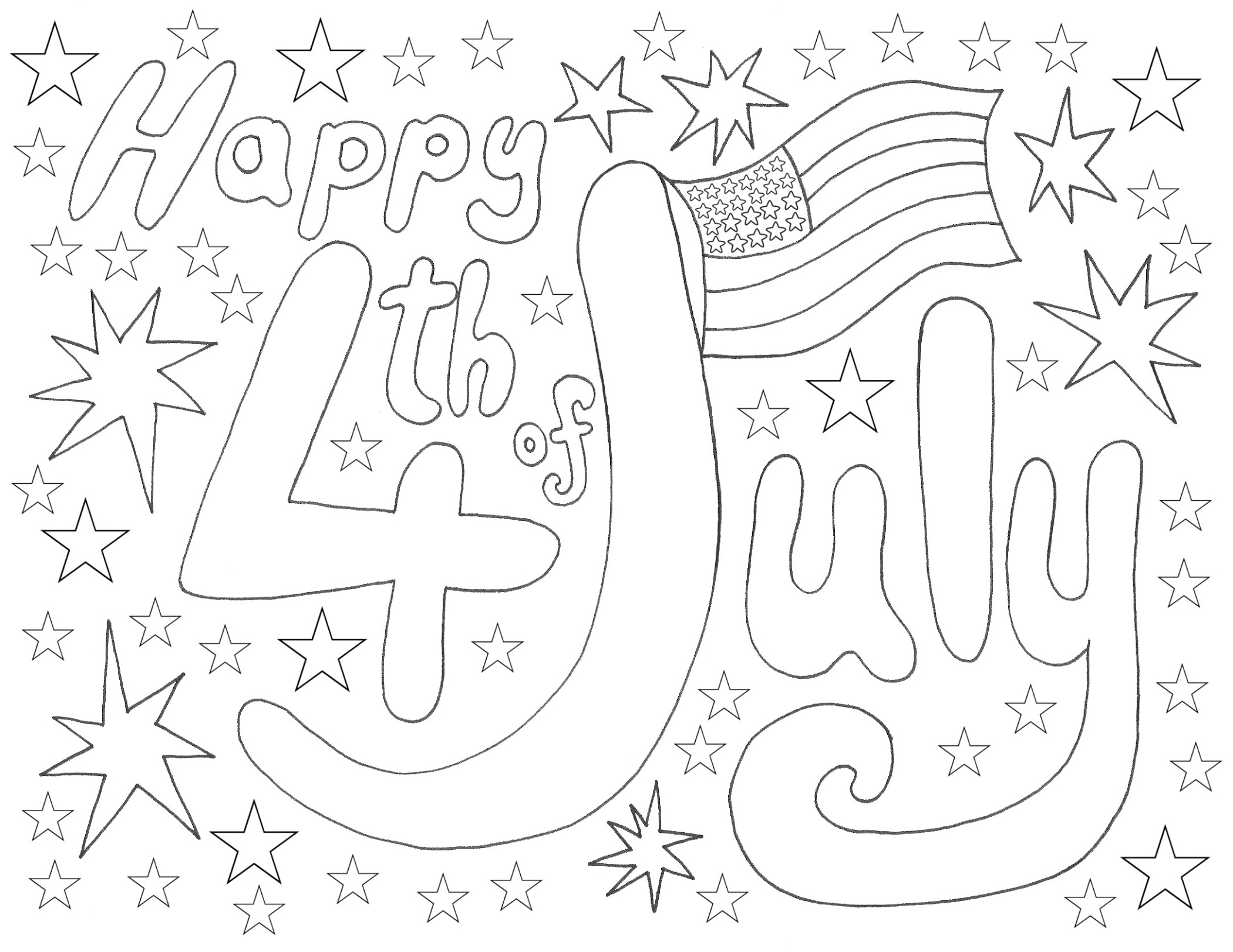 Fourth Of July Coloring Pages Independence Day