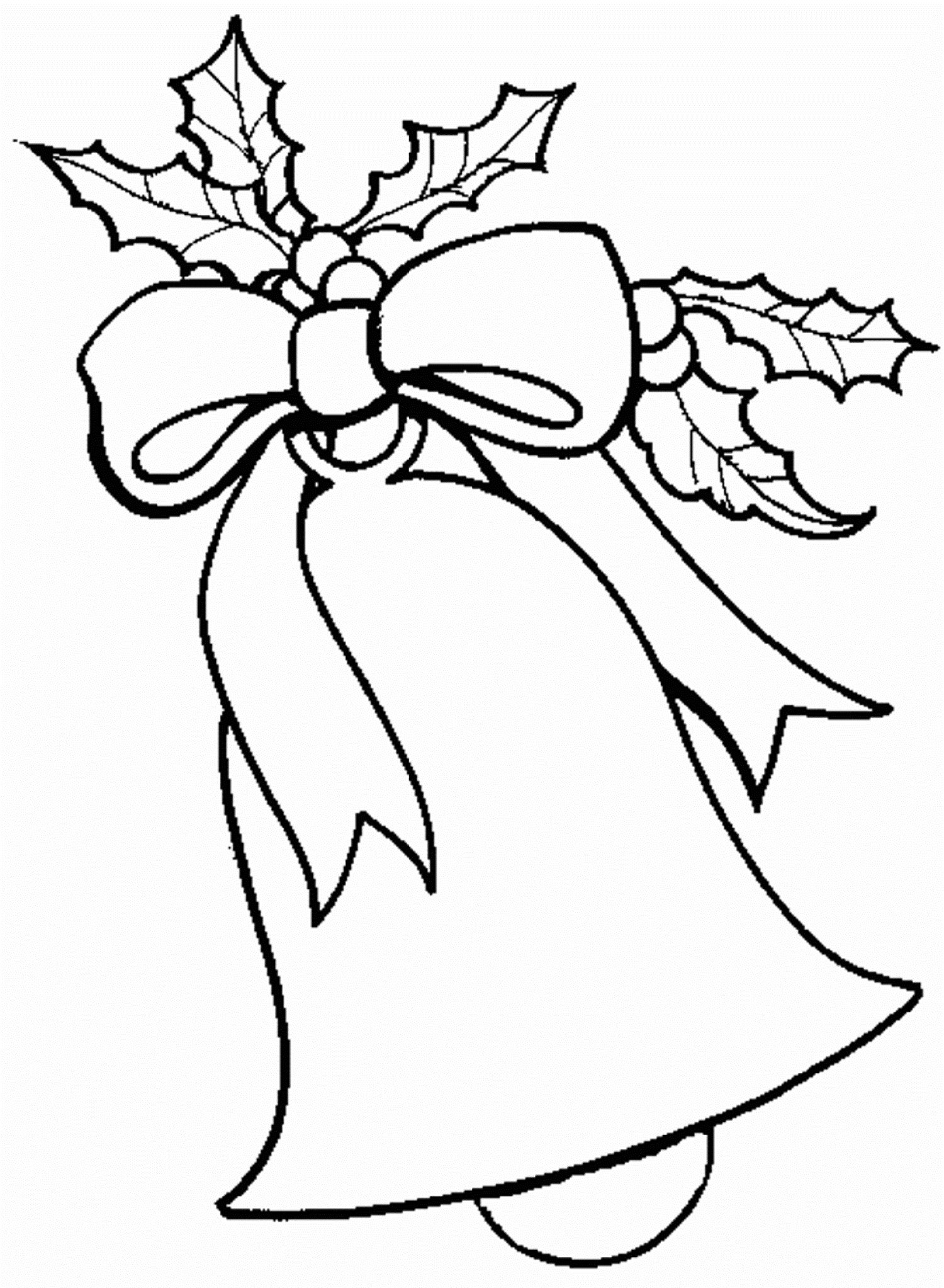 Free Christmas Coloring Pages Bell