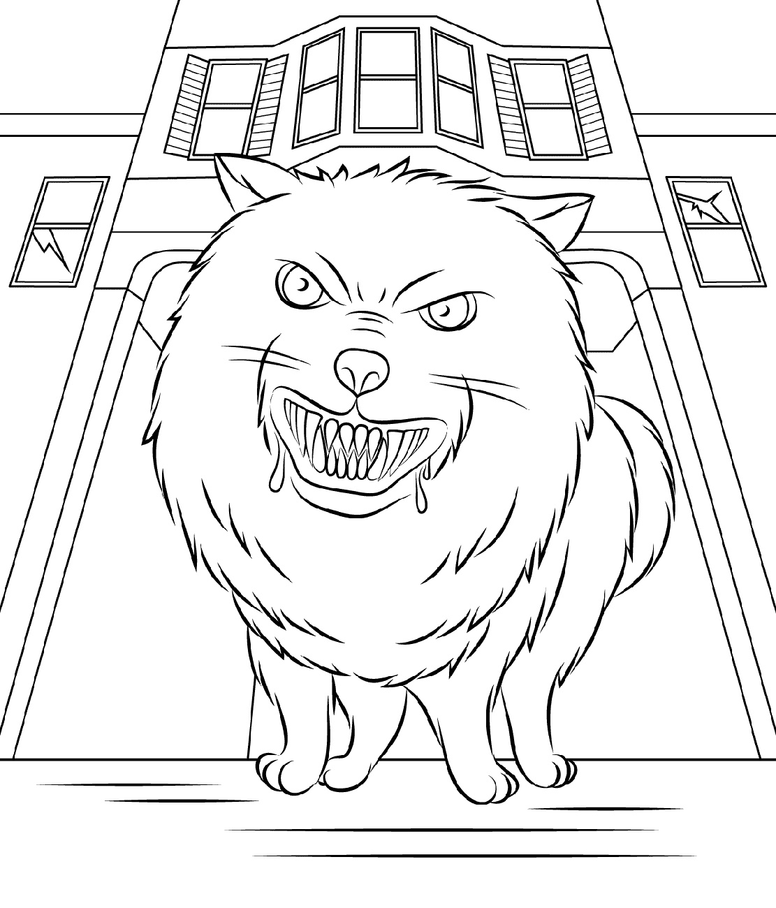 Goosebumps Coloring Pages Horrorland