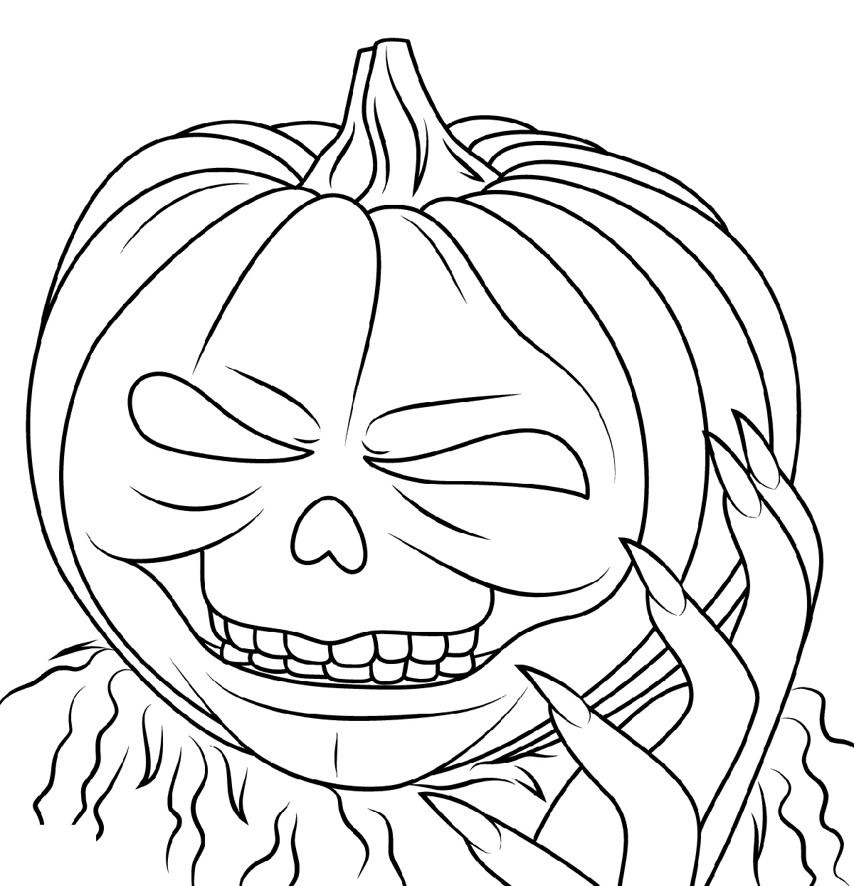 Goosebumps Coloring Pages Jack O Lantern