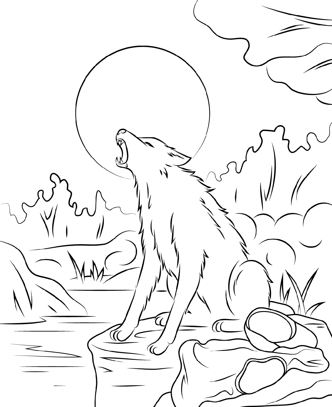 Goosebumps Coloring Pages The Werewolf
