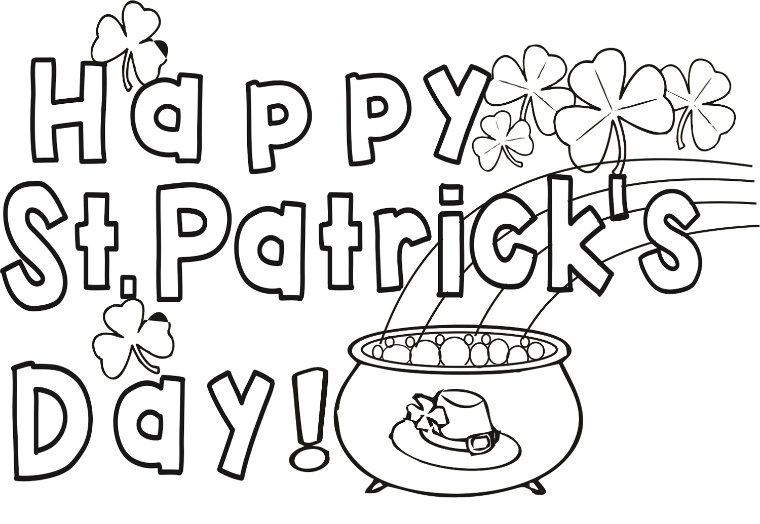 Happy St Patrick's Day Coloring Pages