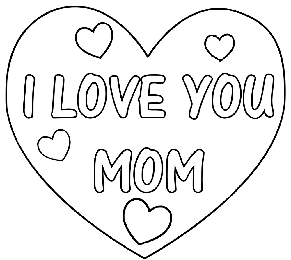 I Love You Mom Coloring Pages Pictures