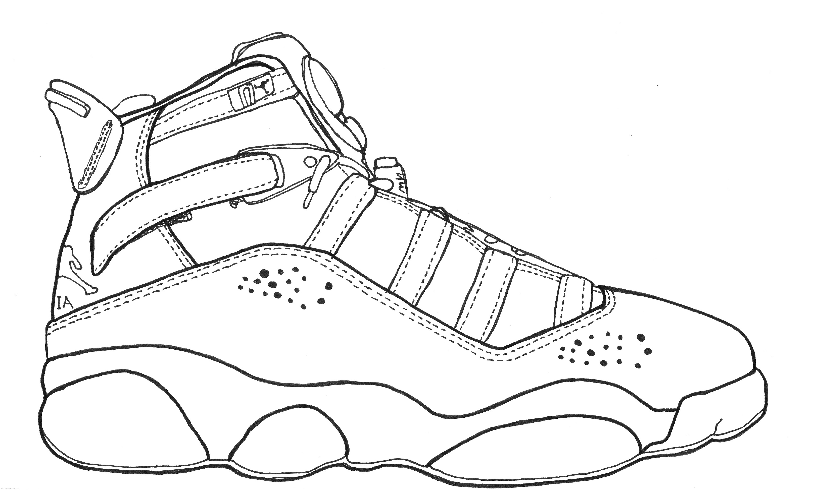 Jordan Shoes Coloring Pages 3 Jordan Shoes