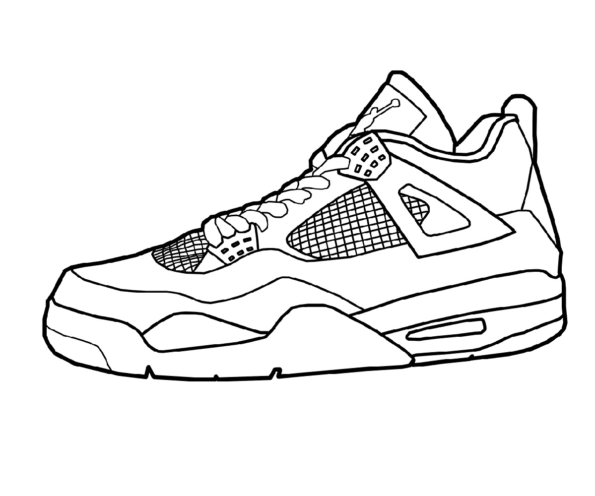 Jordan Shoes Coloring Pages Printable